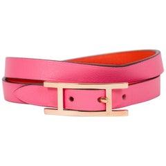 Hermes Rose Gold & Rose Azalee Bracelet