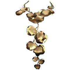 "Ambre & Louise Statement Leaf ""Capucines"" Necklace"