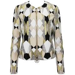 New $14,850 Versace Water Snake Medusa  Swarovski Crystal Embellished Jacket 40