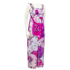1960s Emilio Pucci Pink Printed Nylon Nightgown