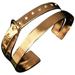 Ambre et Louise Small Gold Buckle Cuff