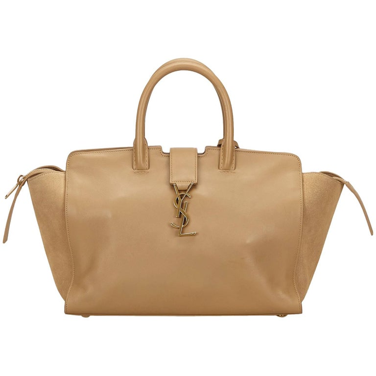 353ec976e1c YSL Brown Downtown Cabas For Sale at 1stdibs