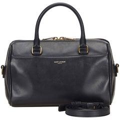 YSL Navy Blue Classic Baby Duffle Bag