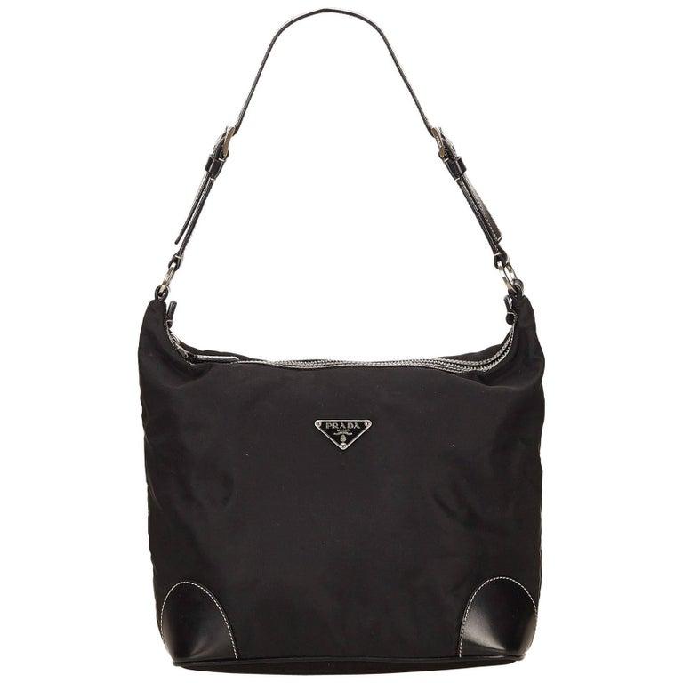 5b6c7eec3c33 Prada Black Nylon Shoulder Bag For Sale at 1stdibs