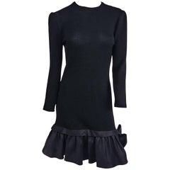 1980s St. John Knit Backless Dress