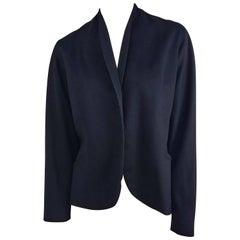 1980s Black Wool Shawl Collar Jacket