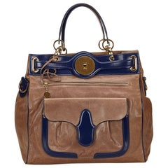 Balenciaga Brown Leather Tote Bag