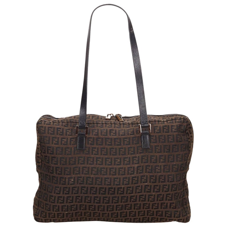Fendi Brown Zucchino Jacquard Shoulder Bag For Sale at 1stdibs a3c4d69458373