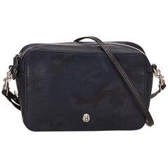 Mulberry Blue Camouflage Leather Shoulder Bag