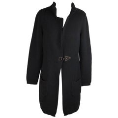 FAY Black Wool & Cashmere CARDIGAN COAT Size M