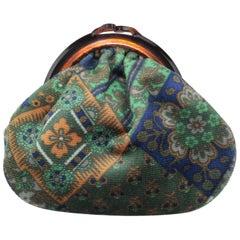 Vintage Bohemian Italian Velvet Jewelry Pouch