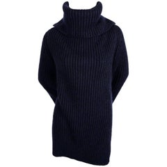 CELINE by Phoebe Philo cashmere and mohair sweater with split neck & sleeves