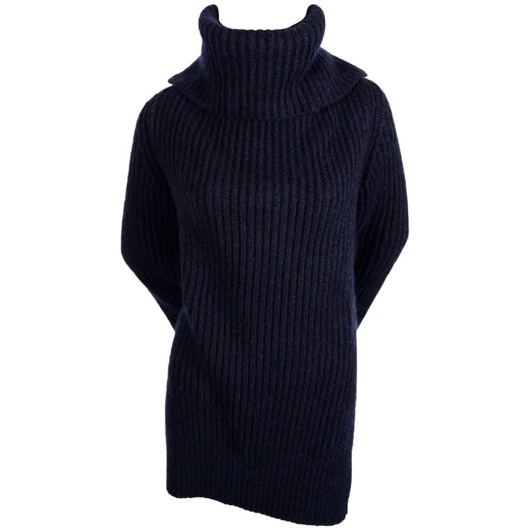 CELINE by Phoebe Philo cashmere and mohair sweater with split neck & sleeves For Sale