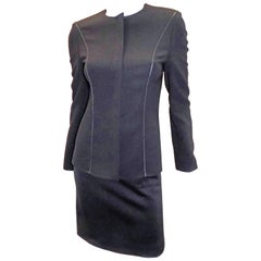 Gianni Versace Couture Black  Vintage skirt suit