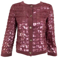 Chanel Raspberry Sequined Cashmere Sweater, 2008