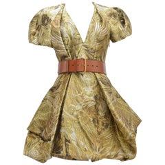 Alexander McQueen Angel Silk-Jacquard Dress    Mint