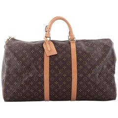 Louis Vuitton Keepall Bag Monogram Canvas 55 i