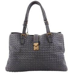 Bottega Veneta Roma Handbag Intrecciato Nappa Medium is a finely