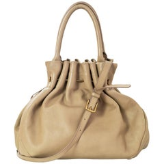 Marni Beige Pierced Leather Satchel Bag with Dust Bag