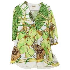 Vintage Hermes Jardin Creole Silk Shirt