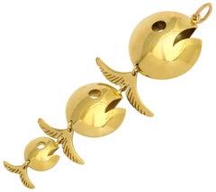 Italian 18 kt Gold Fish Pendant