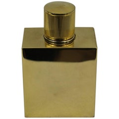 60's Hermes Vintage Golden Metal Parfum Bottle