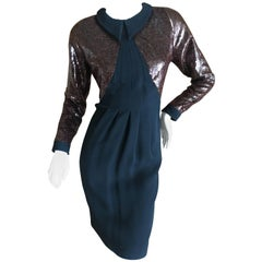 Geoffrey Beene Little Black Dress with Copper Sequins