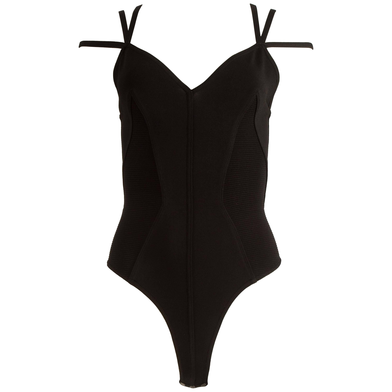 Alaia Spring-Symmer 1990 black bodysuit