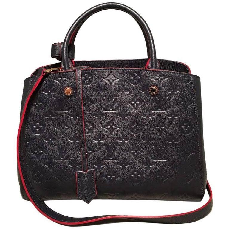 Nwot Louis Vuitton Navy Empreinte Leather Monogram