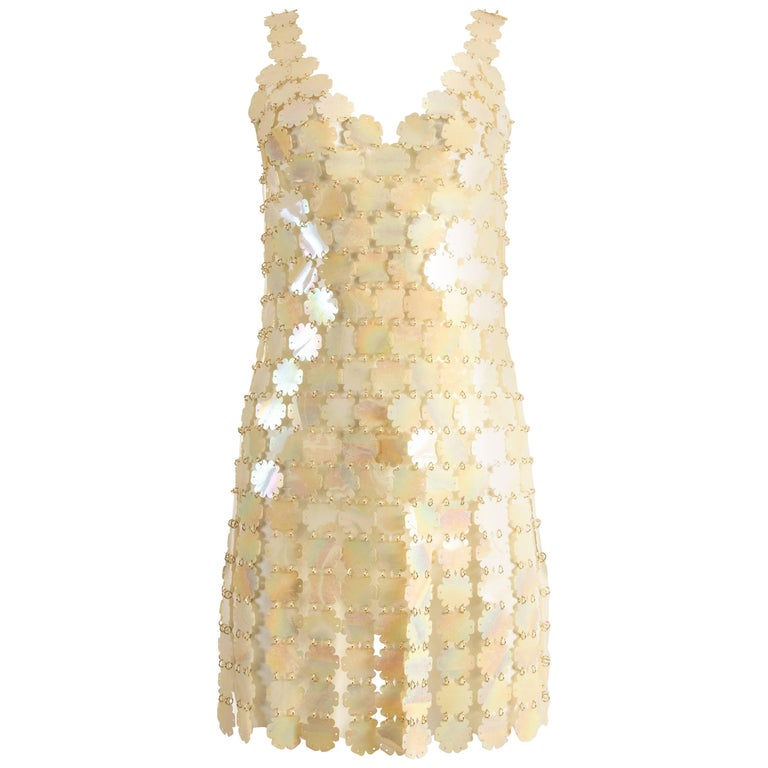 Paco Rabanne plastic petal mini dress 1
