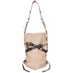 Dolce & Gabbana Beige Leather Buckle Shoulder Bag