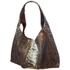 Ana Switzerland Silver Python Hobo bag