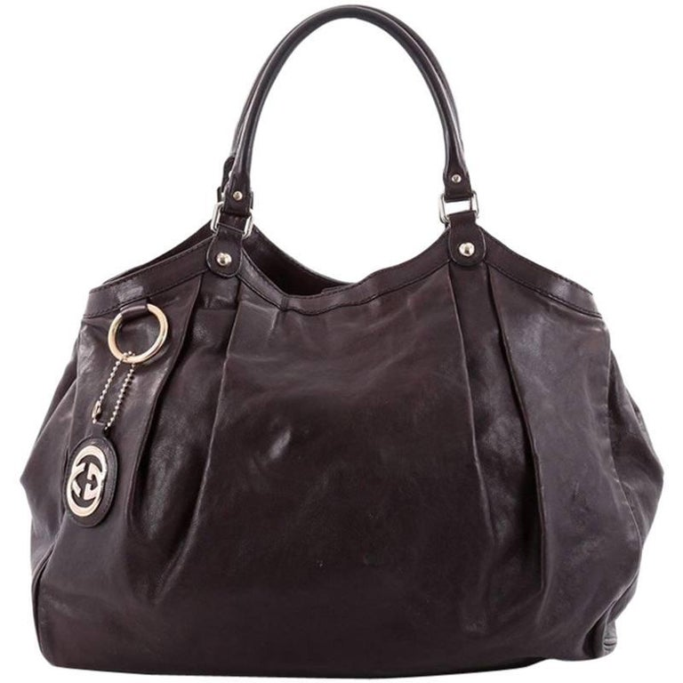 9216302005d7 Gucci Sukey Large Leather Tote at 1stdibs