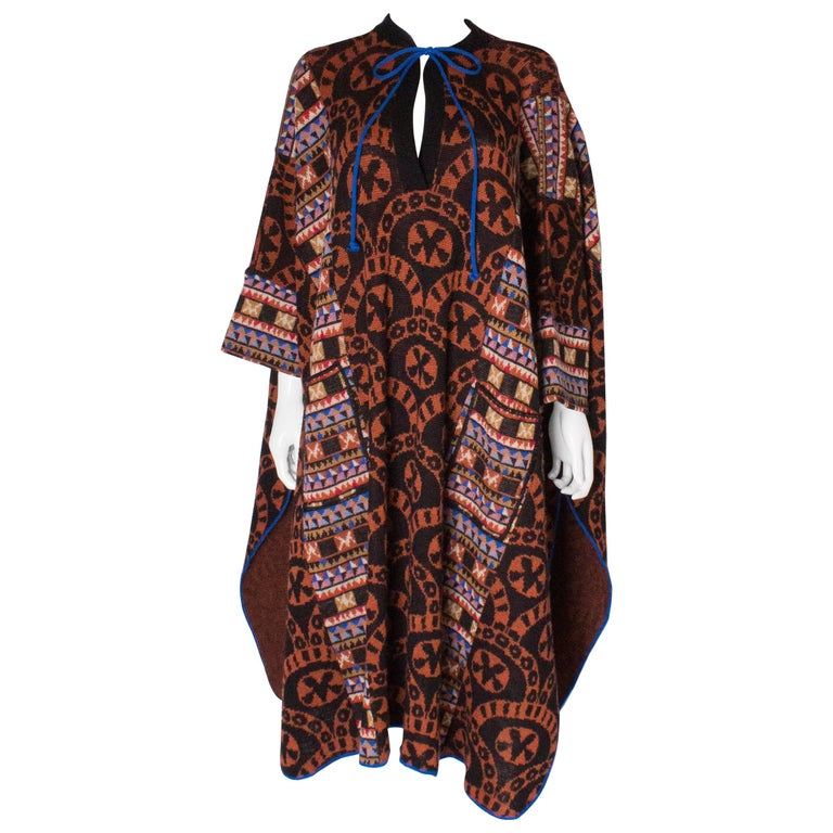 Bill Gibb Poncho Coat with Pockets