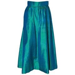 Vintage Green Silk Skirt