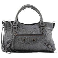 Balenciaga First Classic Studs Handbag Leather