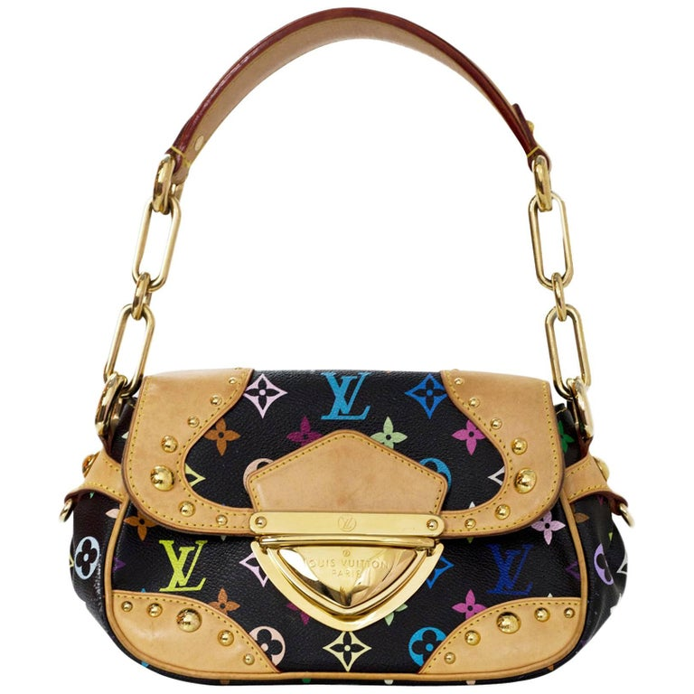 Louis Vuitton Black Multi-Colored Monogram Marilyn Shoulder Bag