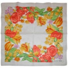 Hanae Mori 100% Switerland Cotton Floral Handkerchief