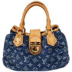 Louis Vuitton Denim Monogram Pleaty Handle Bag