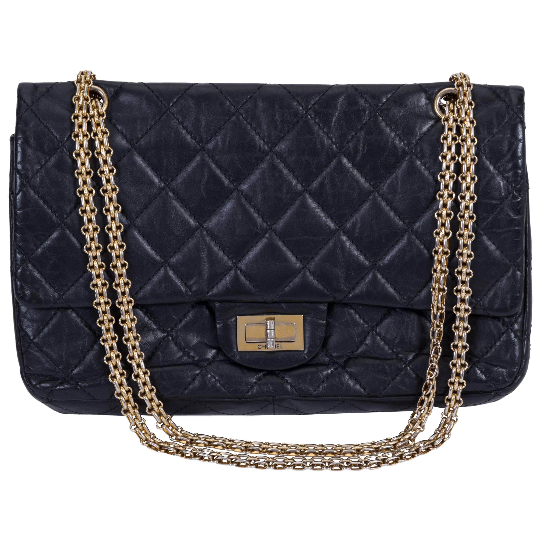Chanel Black Reissue Gold Jumbo Flap Bag