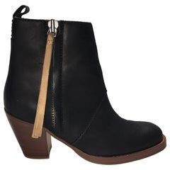 Acne Leather Booties
