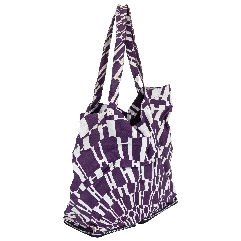 Hermes Black and Purple Silky Pop Bag