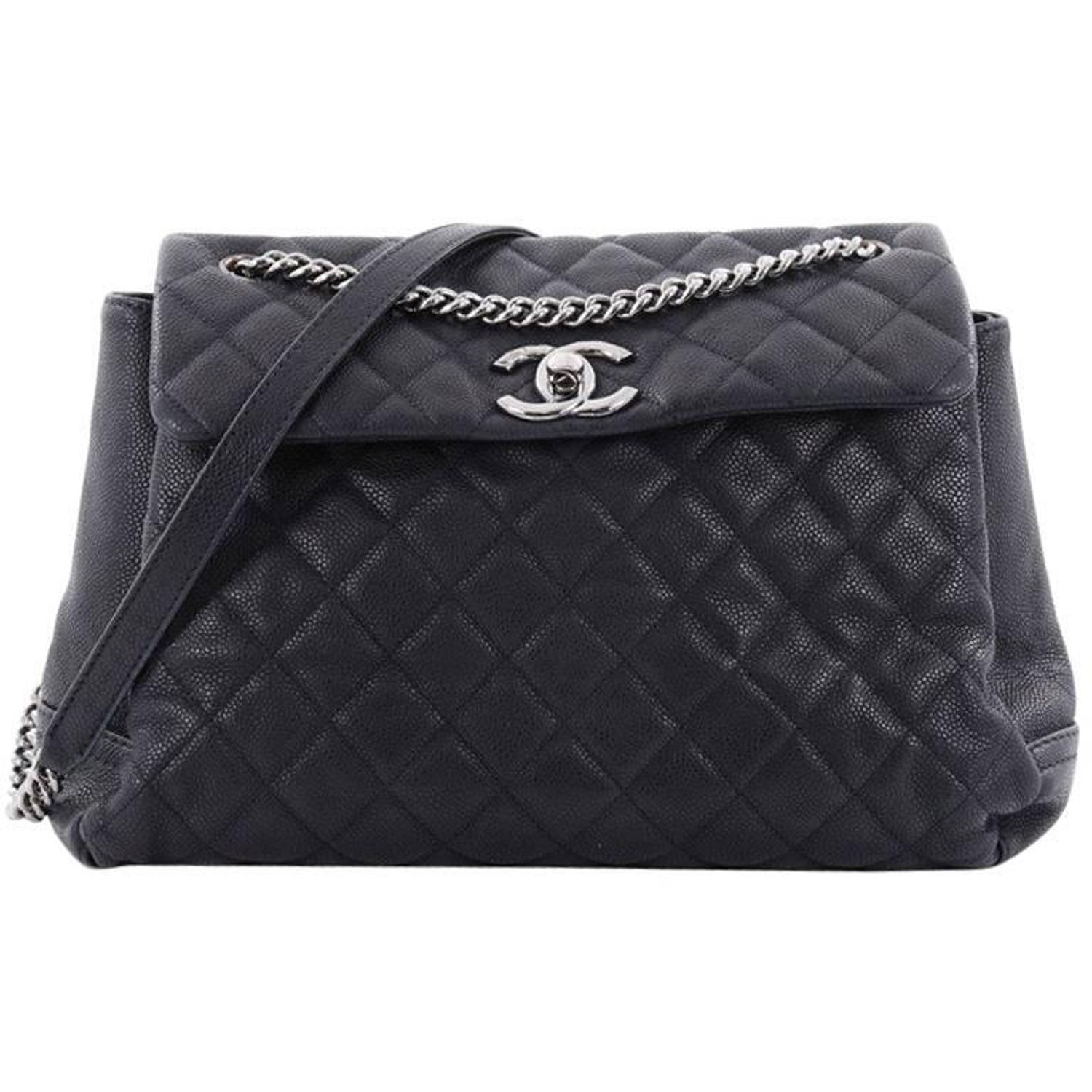 ee6abd76d4e7 Chanel Lady Pearly Flap Bag Quilted Matte Caviar Large at 1stdibs