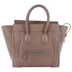 Celine Luggage Handbag Smooth Leather Mini