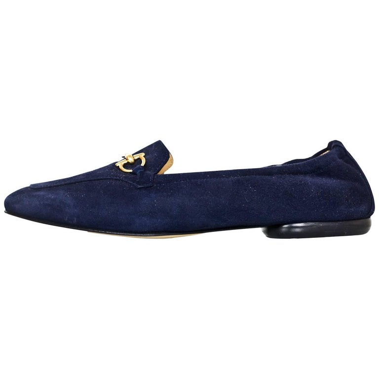 b0084f157e5 Gucci Navy Suede Horsebit Loafers Size 37C New For Sale. Gucci Navy Suede  Horsebit Loafers Sz 37C NEW This is a wide fit shoe Made In