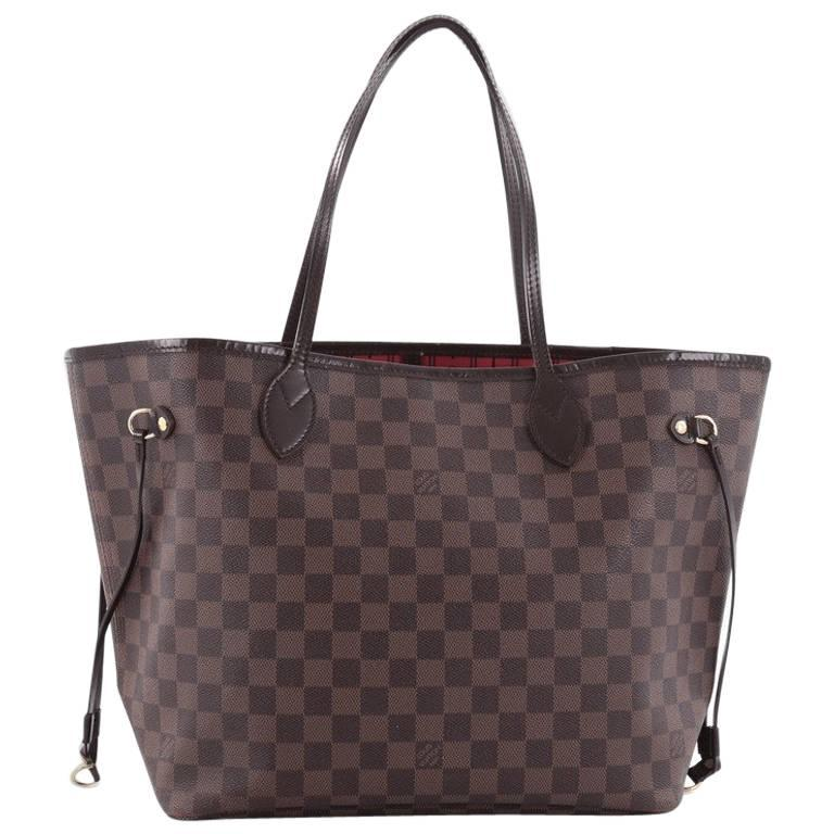 Sac Louis Vuitton Neverfull Mm : Louis vuitton neverfull tote damier mm at stdibs
