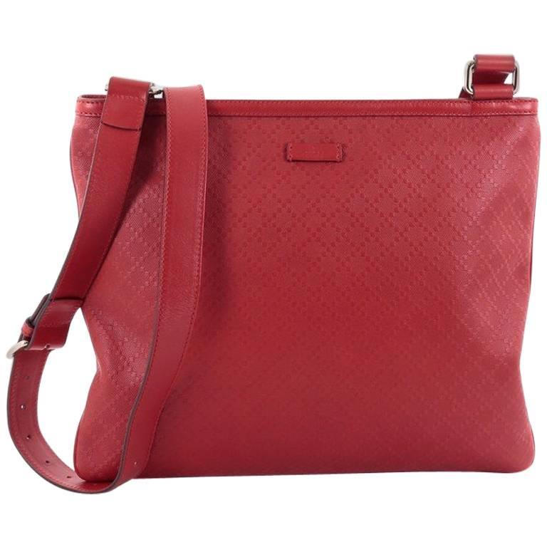 16562f53b29 Gucci Crossbody Bag Diamante Leather Large