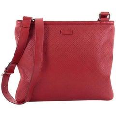 Gucci Crossbody Bag Diamante Leather Large