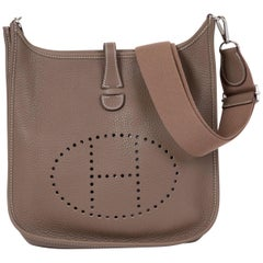 Hermes New Etoupe Clemence Evelyne Bag