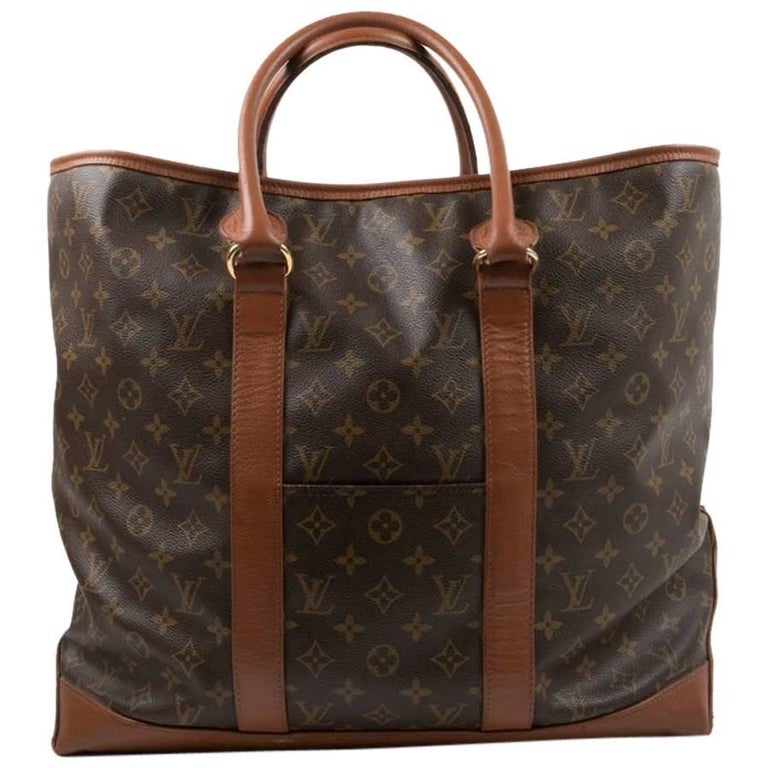 louis vuitton vintage weekender bag in brown monogram canvas for sale at 1stdibs. Black Bedroom Furniture Sets. Home Design Ideas
